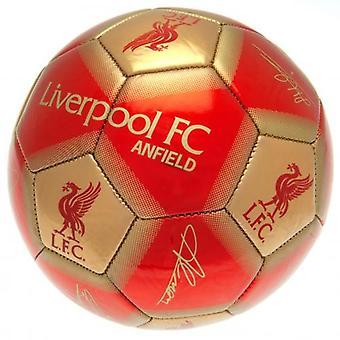 Liverpool FC Football Signature Gold