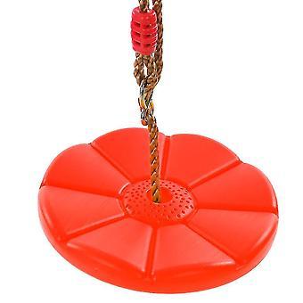 ラウンドスイングパテルスイング外と内側プラスチックラウンドクライミングスイング子供と子供のための(赤)