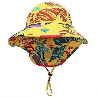 YANGFAN أطفال الشمس قبعة طفل الأشعة فوق البنفسجية حماية الشاطئ الصيف في الهواء الطلق لعب قبعة