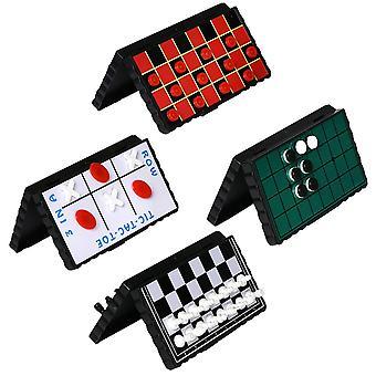 Travel Board Spiel Set Bundle Pack von 4 klassischen magnetischen Spielen für Kinder beinhaltet