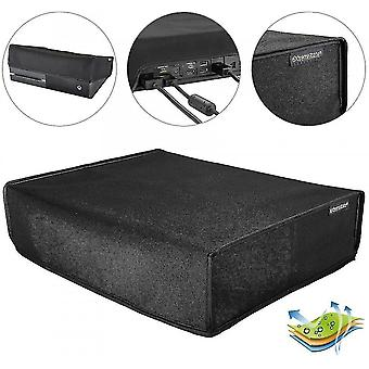 Black Horizontal Dust Cover For Xbox One Console Custom Designed Double Layer