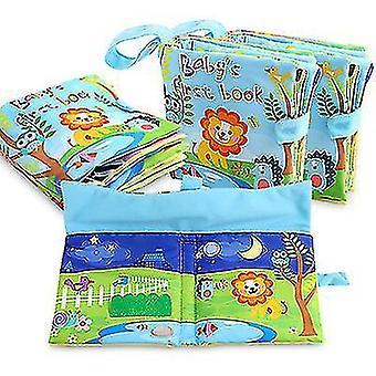 Малыши Дети Животные Хвосты Ткань Книга Мягкое Раннее Развитие Новорожденный Кроватка Игрушки Книги