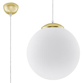 Globe Hänge Ljusvit, Guld E27