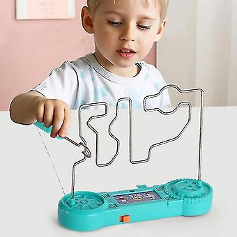 Electric Touch Maze Game Collision Electric Shock Toy Science Experiment Toys for Children Gift(001)