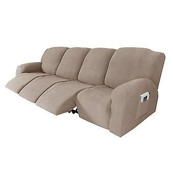 Recliner sofa slipcover couch covers for 4 cushion couch, sofa cover furniture protector with elasticity, sand