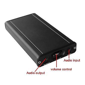 Kg01 mini hifi class a portable headphone amplifier opa2107 audio amp(Black)
