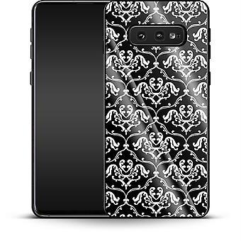 Schwarze französische Lillies von caseable Designs Luxus Handyhülle Samsung Galaxy S10e