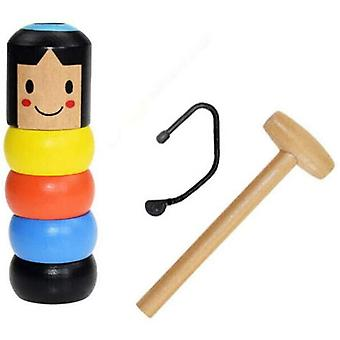 Funny Wooden Toys Immortal Magic Dolls Halloween Magic Comedy Psychological Party Funny Toy Accessories