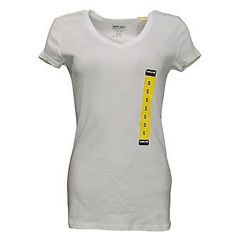 Kirkland Signature Women's Top Reg V-Neck Tee White 7996531