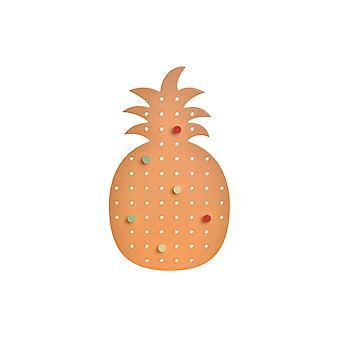 Porte-manteau DKD Home Decor Orange Wood Pineapple (21,5 x 1 x 37,5 cm)