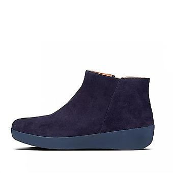 FitFlop Sumi Suede Ankle Boot In Navy Suede