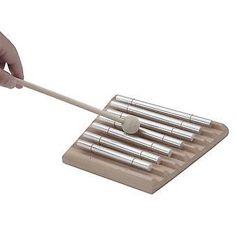 Carillons en bois à 7 tons avec instrument de percussion à maillet pour enfants| Outils d'extérieur