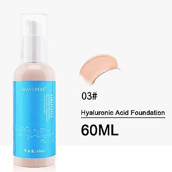60ML Hialuronsav Bb krém hidratáló Öregedés kollagén esszencia folyadék| Test csillog (Meleg sárgabarack)
