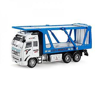 Blue diecast metal realistic toy truck mz1121