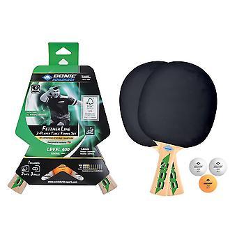 Donic Schildkrot Fetzner 400 FSC Table Tennis SetВ- 2 Paddles and 3 Balls 40mm