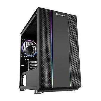 Desktop computer server cases atx mini-tower box case hummer fusion rgb led black