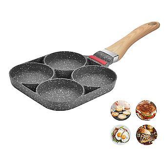 4 trous Poêle à frire Épaissie Omelette Pan pane antiadhésif oeufs