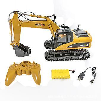 Rakennustekniikka Kuorma-auto lelut 1:14 Rc Kuorma Kaivinkone Crawler Traktori 15 Kanava 2.4g Simulaatio Ääni vilkkuu valot