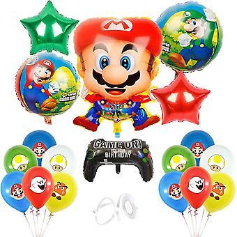Super Mario Bros Balloons Super Mary Balloons Super Mario Birthday Party Supplies Mario Party Decorations For Kids, Set Of 19 Pcs