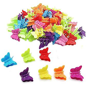 50 Butterfly Hair Clips Claw Barrettes Asortate Color Mini Clip Ac de păr Random