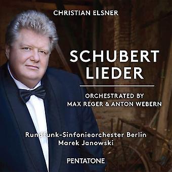 Schubert / Elsner / Rundfunk-Sinfonieorchester - Schubert Lieder - Orchestrated by Reger & Webern [SACD] USA import