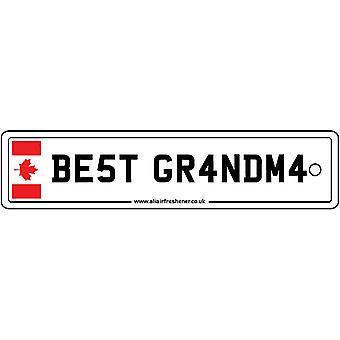 Canada - bedste bedstemor licens plade bil luftfriskere