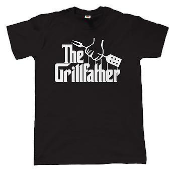 The Grill Father Mens Funny BBQ Camiseta, Barbacoa Fumador a regalo lo papá abuelo