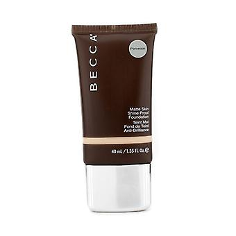Becca Matte Skin Shine Proof Foundation - # Porcelain - 40ml/1.35oz