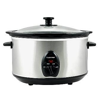 Lloytron E818 3.5L eléctrico alimentos lenta cocina cerámica olla acero cepillado