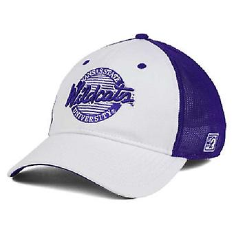 """Kansas State Wildcats NCAA """"Circle"""" A-Flex Stretch Fitted Hat"""