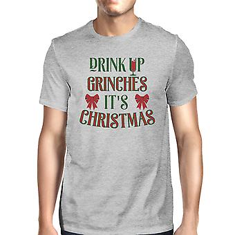 It's Time To Get The Trees Lit Mens Grey Funny Christmas T-Shirt