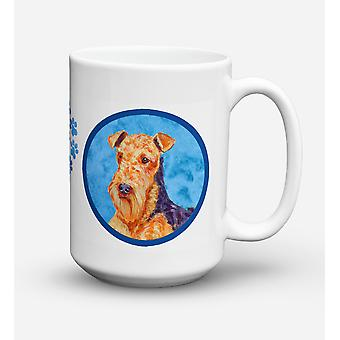 Airedale  Dishwasher Safe Microwavable Ceramic Coffee Mug 15 ounce