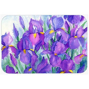Carolines Treasures  IBD0256LCB Purple Iris Glass Cutting Board Large