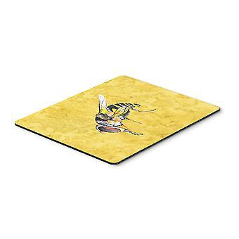 Carolines trésors 8851MP abeille sur tapis de souris jaune, manique ou un sous-plat