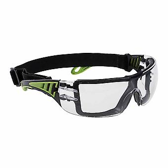 Portwest - Tech Look Plus Metal Free Dielectric Safety Spectacles With Head Band