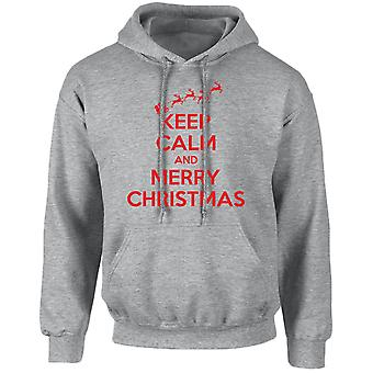 Keep Calm Merry Christmas Xmas Unisex Hoodie 10 Colours (S-5XL) by swagwear