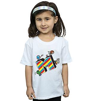 Maravilha meninas Kawaii M é para t-shirt Marvel