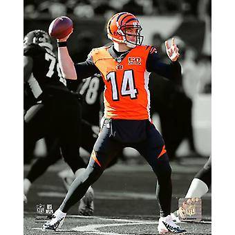 Andy Dalton 2017 Spotlight Action Photo Print