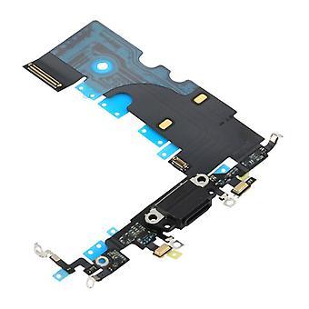 Base conector micrófono Flex cable para Apple iPhone 8 4.7 carga Jack Black