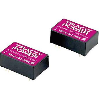TracoPower TEN 6-2415WIN DC/DC converter (print) 24 V DC 24 V DC 250 mA 6 W No. of outputs: 1 x