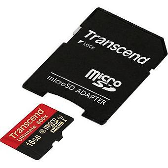 Transcend Ultimate (600x) microSDHC card 16 GB Class 10, UHS-I incl. SD adapter