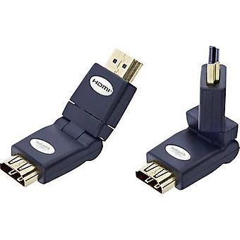 Inakustik HDMI Adapter [1 x HDMI plug - 1 x HDMI-socket] Black met goud beklede aansluitingen, High Speed HDMI met Ethernet
