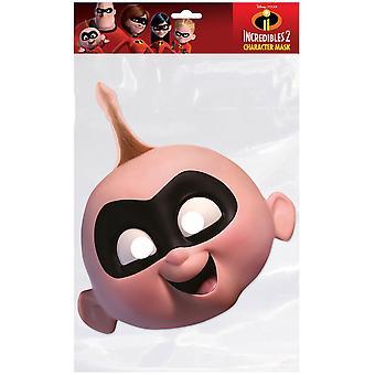 Jack-Jack Parr Incredibles 2 Single 2D Card Party Fancy Dress Mask