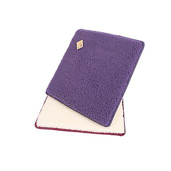 Stuhlkissen Sitzkissen eckig violett 2er Pack 37 x 40 cm