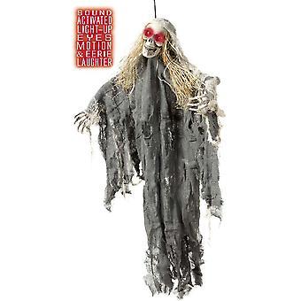 Halloween y horror Squelette avec lumière et hijo et mouvement