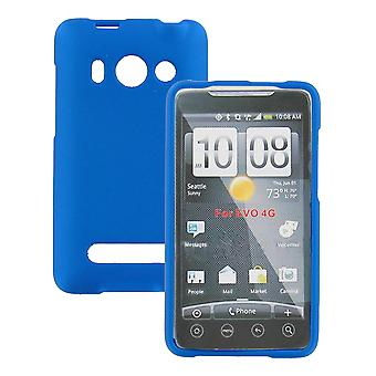 Snap-on Rubber Coated Case for HTC EVO 4G (Blue)
