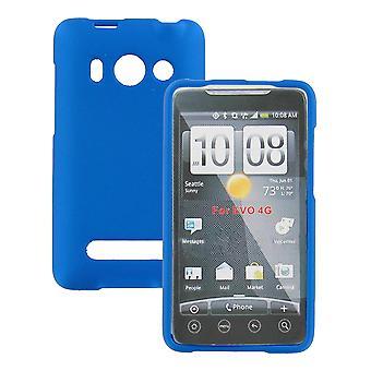 Snap-on de borracha revestida caso para HTC EVO 4G (azul)