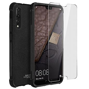 iMak full täckning, hardcase för Huawei P20 Pro + hydrogel skärmskydd - svart