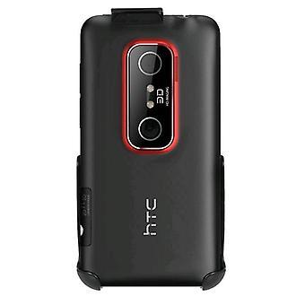 Seidio printemps-clip ceinture étui de Clip pour HTC EVO 3D - noir