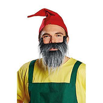 Zwergenbart grau Schnauzer Bart Accessoire Karneval Halloween